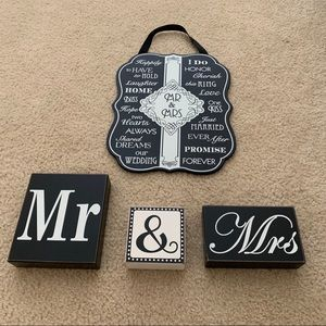 Other - Black and White Wedding Decor